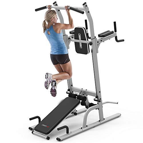 Leike Fitness ぶら下がり健康器 懸垂マシン マルチ筋肉トレーニングマシーン チンニング 多機能懸垂マシーン 筋トレ トレーニングマシン 懸垂器具 耐荷重350KG [メーカー1年保証]