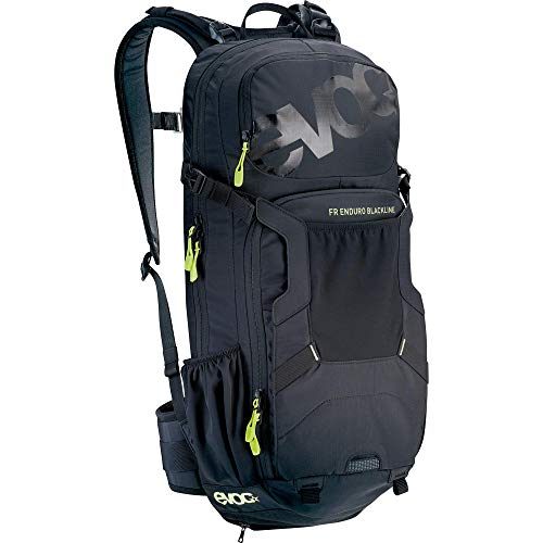 EVOC FR ENDURO BLACKLINE 16L Outdoor Protektor Rucksack Backpack für Bike-Touren & Trails (TÜV/GS Zertifiziert, LITESHIELD BACK PROTECTOR & AIR SYSTEM Technologie), Schwarz
