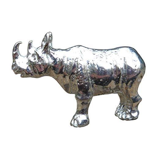 Nashorn Figur, Kleines Nashorn, Handgegossen von William Sturt, aus Deutsche Zinn (Pewter)