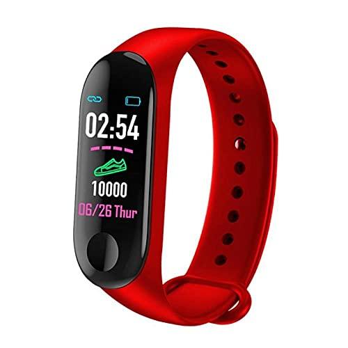 Pulsera Inteligente Salud Fitness Deportes Pulsera Inteligentereloj Inteligente Electrónico M3 Banda Inteligente Para Mujeres Hombres Pulsera Reloj Inteligente Reloj Deportivo Reloj-1 Rastreador De