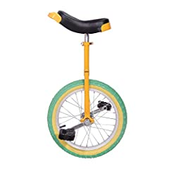 【Frame】-Strong steel frame, standard frame of Unicycle for kids,the first time unicyclist and the regular rider.Excelletn skid proof turf-style tread tire designed to handle a weight capacity of up to 50KG/110LB. 【Excellent Stability】-Excellent quali...