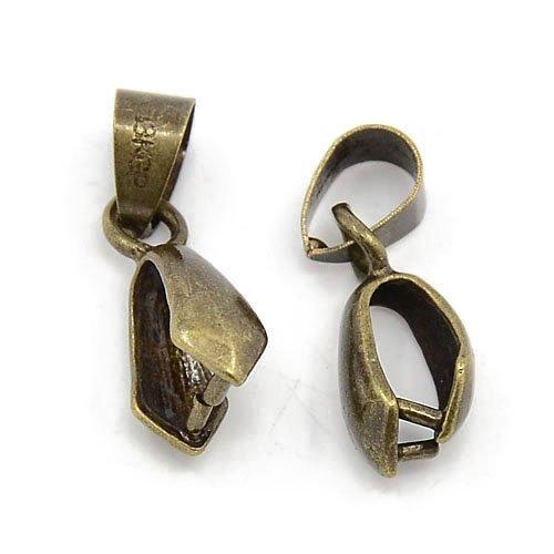 20 x Antik Bronze Messing Auflage 20mm Collierschlaufen - (HA07605) - Charming Beads