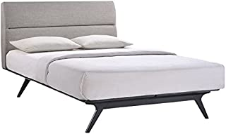 Best upholstered platform bed black Reviews
