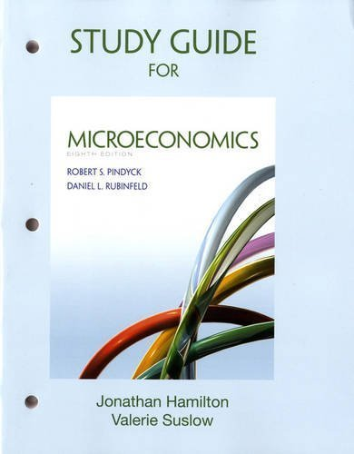 Study Guide For Microeconomics By Pindyck Robert Rubinfeld Daniel 2012 Paperback