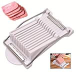Cuts 9 Slices,Spam Slicer Luncheon Meat Slicer Stainless Steel Wires Durable Egg Fruit Slicer Soft Food Cheese Sushi