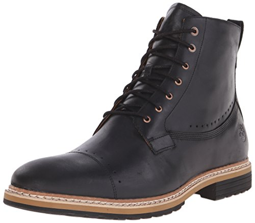 Timberland Men's West Haven 6 Inch Side-Zip Boot, Black Full Grain, 10 M US