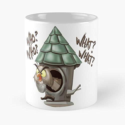 Cartoon Hoot Stone Archimedes Owl Sword Funny In Best 11 oz Kaffeebecher - Nespresso Tassen Kaffee Motive