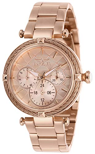 Invicta Women's Bolt Quartz Watch with Stainless-Steel Strap, Rose Gold, 18 (Model: 28961