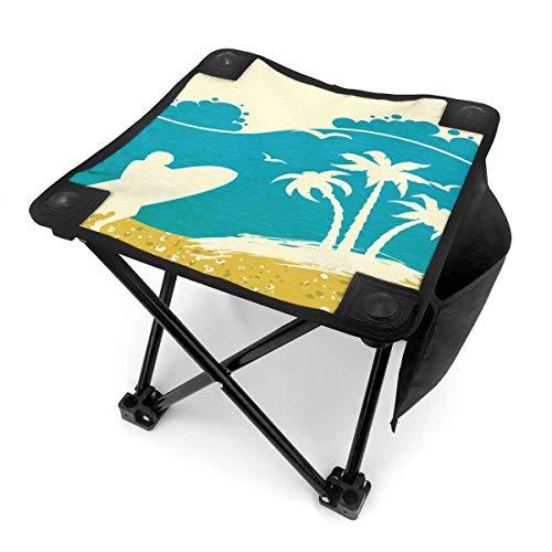 End Nazi Tabouret de Camping Folding Chairs Summer Beach Ocean Waves Surfboard Series Siège de Chaise Portable