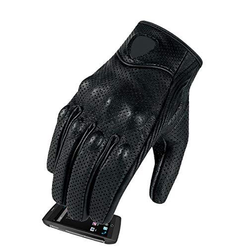 Monster Casual motorhandschoenen lederen ademende handschoenen racen bescherming apparatuur mannen warme handschoenen fiets motorfiets tandwielen zwart