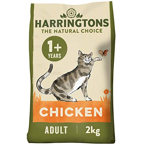Harringtons Complete Adult Chicken Dry Cat food 2kg, Pack of 4