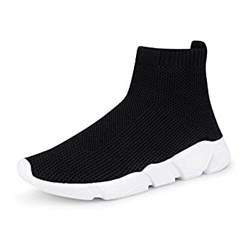WXQ Men s Athletic Walking Shoes Lightweight Fashion Sneakers Breathable Running Shoes Black 39