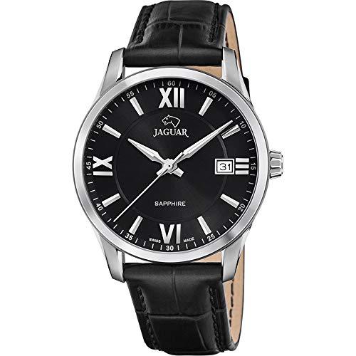 JAGUAR Reloj Modelo J883/4 de la colección ACAMAR, Caja de 40 mm Correa de Piel Negro para Caballero