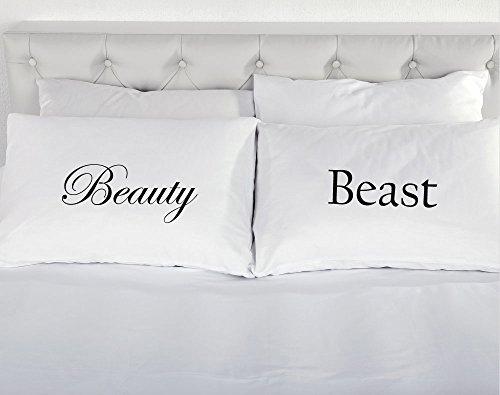 Beauty and The Beast Paire de taies d'oreiller Cadeau romantique
