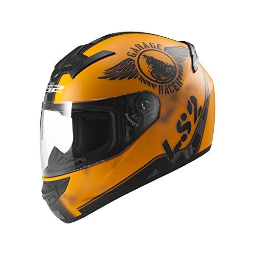 LS2 103523251M FF352 Casco Rookie Fan, Color Naranja Mate, Tamaño M