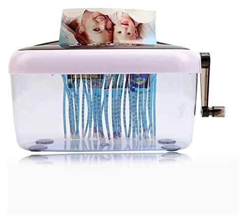 Trituradora de mano portátil, mini des trituradora de papel A6 de escritorio A6, abrelatas de letra, arquilla de mano trituradora de papel trituradora de papel de trabajo pesado de papel trituradora d