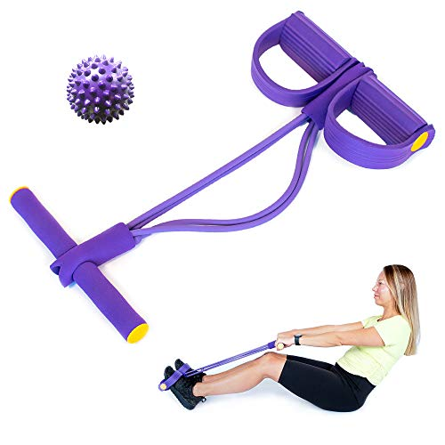 Pedal Resistance Band  Workout Ropes for Home Gym Training  Elastic Exercise Pedals for Women  Yoga Fitness Equipment for Stretching  Multifunction Tension Rope for Ab Arms Leg  Tummy Trimmer
