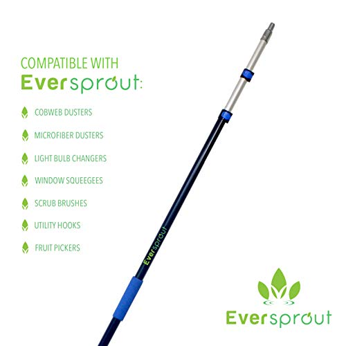 EVERSPROUT 5-to-13 Foot Telescoping Boat Hook   Floats, Scratch-Resistant, Sturdy Design   Durable & Lightweight, 3-Stage Anodized Aluminum Pole   Threaded End for Boating Accessories (13 Feet)