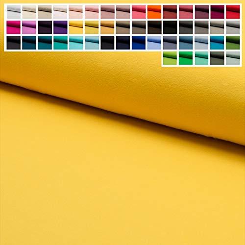 Jersey Stoff Uni Oeko-Tex Meterware ab 25 cm - einfarbiger Jersey in vielen Farben (19. Gelb)