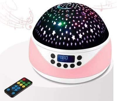 Noche Infantil Proyector estrella Baby Music Night Light, bombillas LED de rotación de 360 grados, 8 colores que cambian la luz con el control remoto y el temporizador, para la decoración de la habi