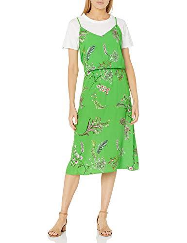 Desigual Damen Vest_Neida Kleid, Grün (Lime Green 4025), (Herstellergröße:38)