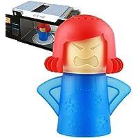 Angry Mama Microondas Limpiador Frigorífico Desodorante Horno Vapor Olor Absorbente Congelador Olor Ambientador Removedor Herramienta de Limpieza de Cocina (Rojo)