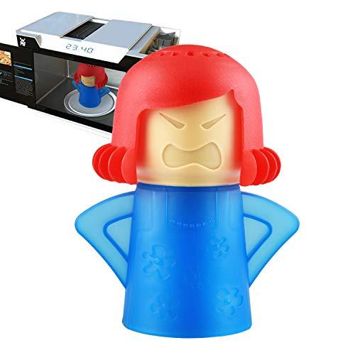 Angry Mama Mikrowellenreiniger Kühlschrank Desodorierung Ofen Dampfgeruch Absorber Gefrierschrank Geruch Lufterfrischer Entferner Küche Reinigungswerkzeug (Rot)