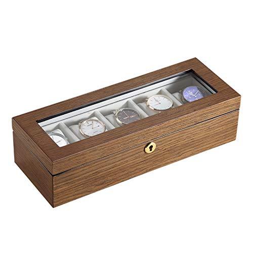 KORANGE Caja de Reloj Estuches para Relojes Soporte de Reloj Organizador de Soporte de Reloj (Color : Natural)