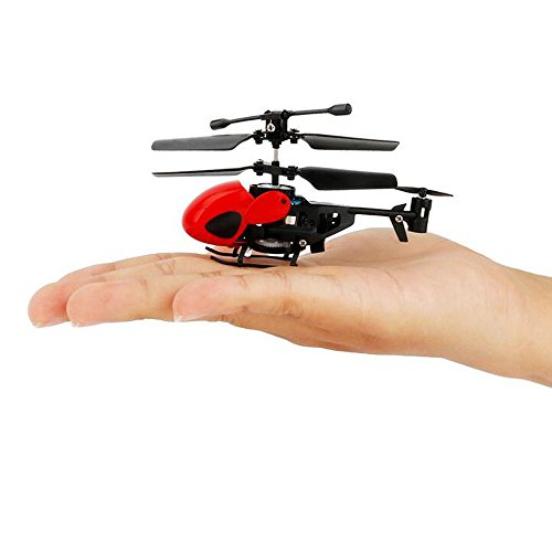NiGHT LiONS TECH N5010 World's Smallest 3.5CH Remote Control RC Helicopter Miniature Indoor Flying LED Mini Infrared RC Helicopter Toy with Gyro RC Toy Aircraft for Kids (red)