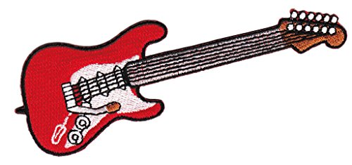E-Gitarre Aufnäher Bügelbild Patch Applikation