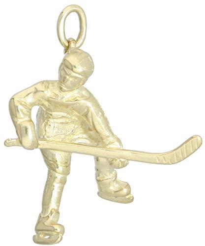 MyGold Eishockey Anhänger (Ohne Kette) Gold 333 Gelbgold (8 Karat) Herrenschmuck 30mm x 25mm Man on Ice A-04721-G301