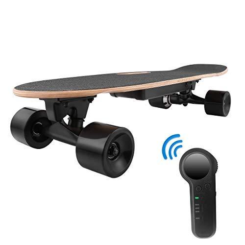 WeSkate E200 Electric Skateboard, 350W Hub-Motor, 12 MPH Top Speed, Wireless Remote Controlled Skateboards, Portable E-Skateboard