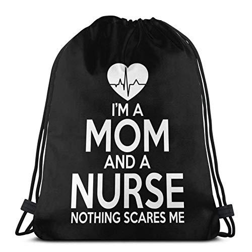 I 'M A Mom And A Nurse No Spaves Me Drstring Bapa Sports Gym Borsa da viaggio Sapa Per Bambini Uomini Donne