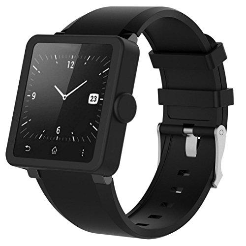 Carcasa protectora para Sony Smart Watch2 SW2, Diadia de silicona suave, marco resistente a los golpes, para Sony Smart Watch2 SW2