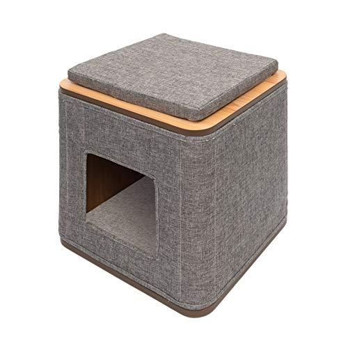 VESPER Mueble Rascador Cubo, Color Gris