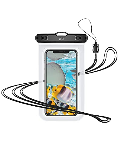 YOSH wasserdichte Handyhülle 7 Zoll Handytasche Wasserdicht Tasche Beutel Beachbag Schwimmen Unterwasser Hülle Universal fürs iPhone 11 Pro Max XS Max X 8, Samsung A50 A40 A20, Huawei P30 usw