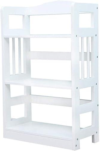 Wghz Liergou-House Organizer Estante Estantes de MDF Estante para estantes 3 Nivel 4 Oficina Abierta para Almacenamiento en casa (Color  blanco, Tamaño  62x28x93cm)