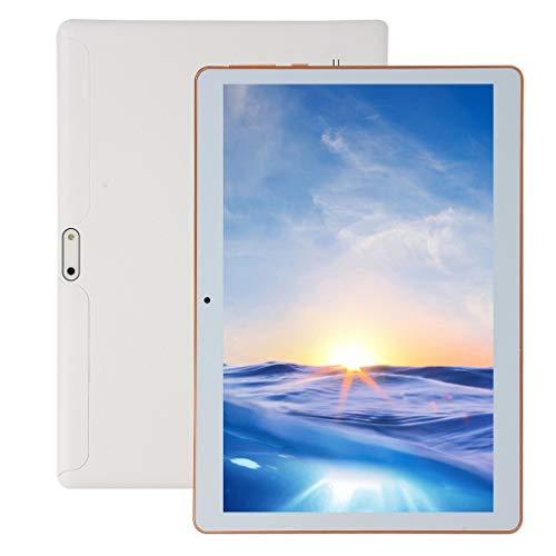 10.1 Pulgadas para Android 8.1 Tablet PC de plástico 8G + 128G Tableta WiFi de Diez núcleos Enchufe británico Blanco