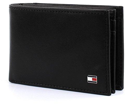 Tommy Hilfiger Eton Mini CC Flap & Coin Pocket, Cartera Hombre^Mujer, Black, OS