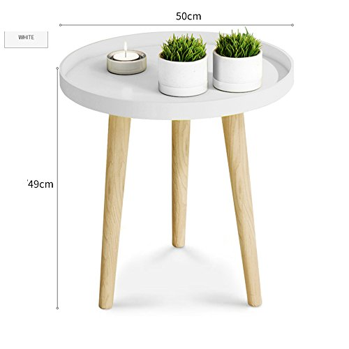 JU FU Petite Table Ronde Nordic Petite Table Basse Simple Chambre Lit Tête Table Mini Table D'angle Balcon Table Basse Simple Canapé Table D'appoint Simple Et Pratique Plateau Tables Balcon À Dîner Ta
