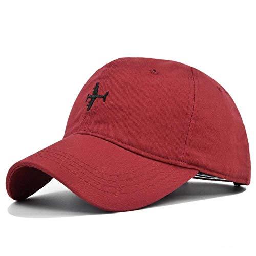 Guuisad Gorra deportiva, gorra de béisbol de moda con bordado de aviones, gorra de béisbol de verano al aire libre, sombrero salvaje, casual, para papá, hueso, hip hop Trucker Caps (color vinado)
