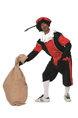 Rood Piet kostuum, hulp van Sinterklaas voor mannen