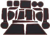 Coche Alfombrillas antideslizantes para Suzuki S.Cross SX4 2014-2020, Puerta Ranura Alfombrilla decoración de Accesorio Interior
