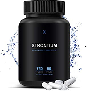 Sponsored Ad - Strontium 750 Mg (Made in The USA) Third Party Tested Strontium Supplement - Hypoallergenic Dietary Supplem...