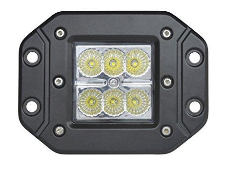 2pcs Flush mount Off Road Lighting 18W Cree Spot Bumper Work Light Black