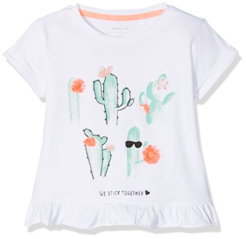 Name It Nmfderlise SS Top T-Shirt Bébé Fille, Blanc (Bright White) 104