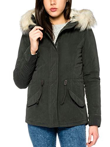 ONLY Damen onlLUCCA Short Parka OTW Jacke, Grau (Peat), 36 (Herstellergröße: S)