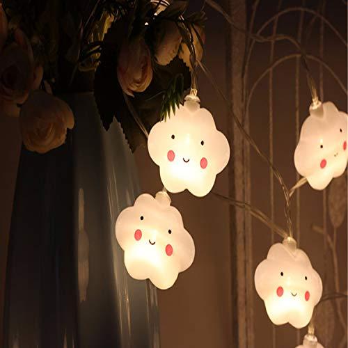 LY-JFSZ Guirlande Lumineuse,Belle Nuages Romantique Maison Moderne Chambre Chambre Éclairage Extérieur Bureau Bar Décorations De Fête 3.5 M 20LED À Batterie Blanc Chaud