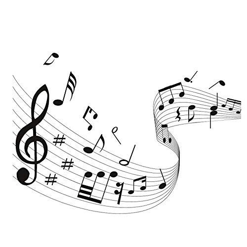 WERWN Arte Creativo Nota Musical Etiqueta de la Pared Música Moda para Sala de Estar Papel Tapiz de Vinilo