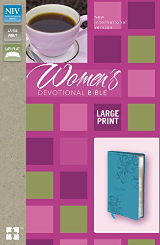NIV, Women's Devotional Bible, Large Print, Leathersoft, Teal